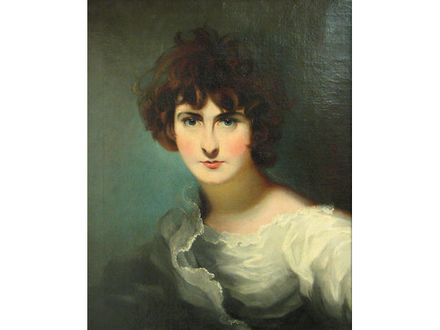 Follower of Sir Thomas Lawrence (Bristol 1769-1830 London) A portrait of Miss Maria Siddons 23 x 19 1/4in