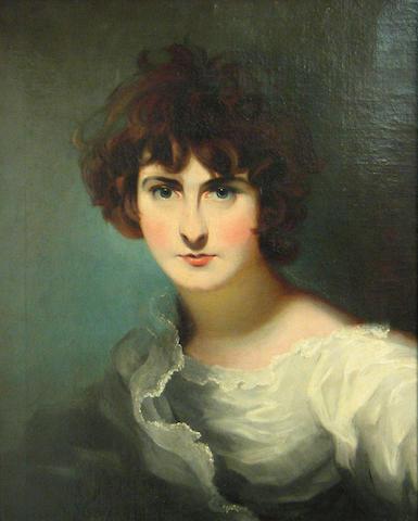 Follower of Sir Thomas Lawrence (Bristol 1769-1830 London) A portrait of Miss Maria Siddons 23 x 19 1/4in