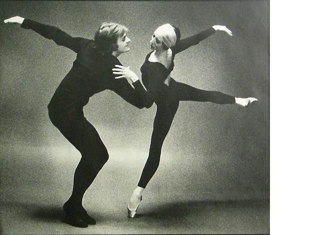 Max Waldman (American, 1920-1981); Mikhail Baryshnikov and Natalia Makarova, New York;