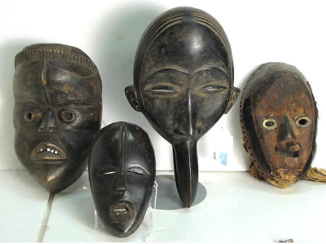 Four Dan masks