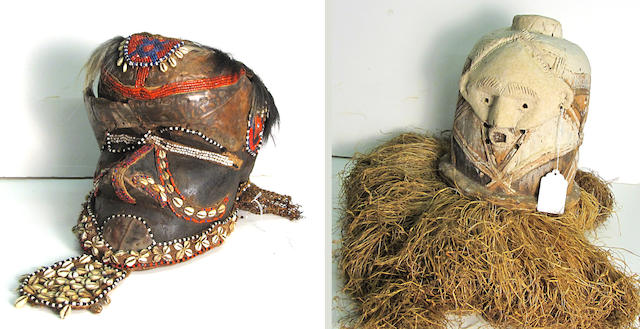 Two Central African masks