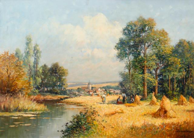 (n/a) Eugène Demester (French, 20th century) L'Été 42 x 30in