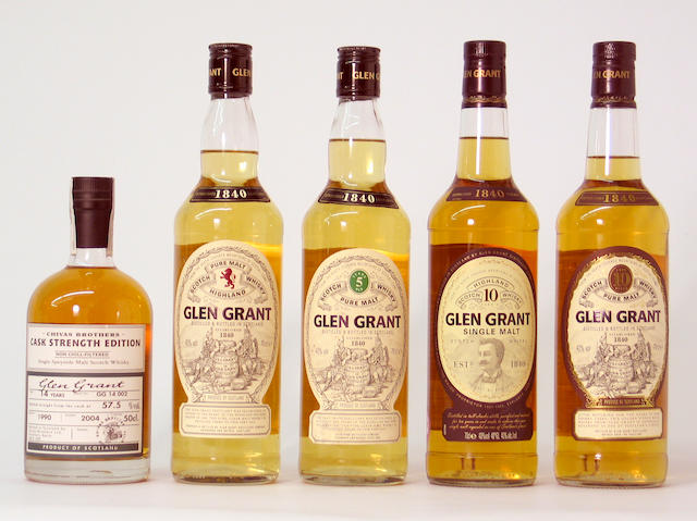 Glen Grant-10 year old (2)Glen Grant-5 year oldGlen GrantGlen Grant-14 year old-1990