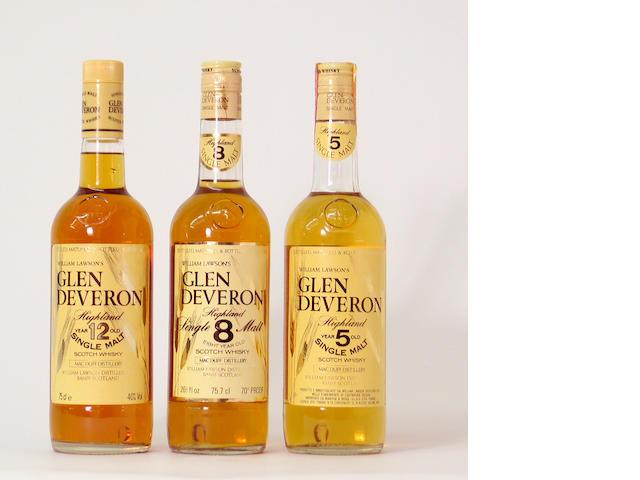 Glen Devreon-5 year oldGlen Deveron-8 year oldGlen Deveron-12 year old