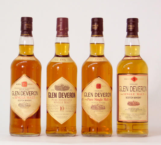 Glen Deveron-5 year old-1989  Glen Deveron-12 year old-1990  Glen Deveron-10 year old-1996  Glen Deveron-12 year old-1982
