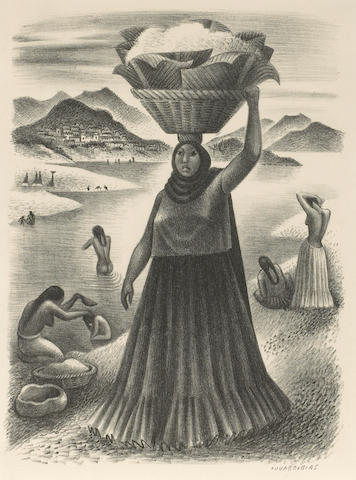 Miguel Covarrubias (Mexican, 1904-1957); Tehuantepec River;