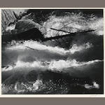 Ansel Adams (American, 1902-1984); Rushing Water, Merced River, Pl. 13, from Portfolio Three;
