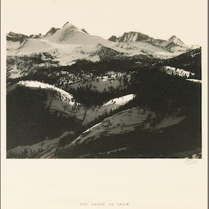 Ansel Adams (American, 1902-1984); The Abode of Snow, from Parmelian Prints of the High Sierras;