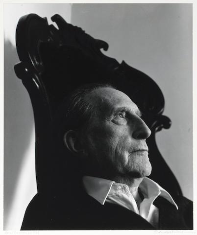 Arnold Newman (American, 1918-2006); Marcel Duchamp, sculptor, painter, Dadaist, N.Y.;