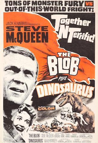 Steve McQueen 'The Blob' double-bill movie poster,