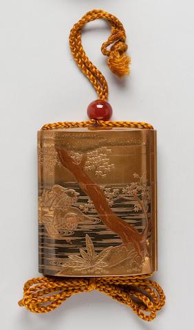 Four-case lacquer inro By Kajikawa Family (19th century)