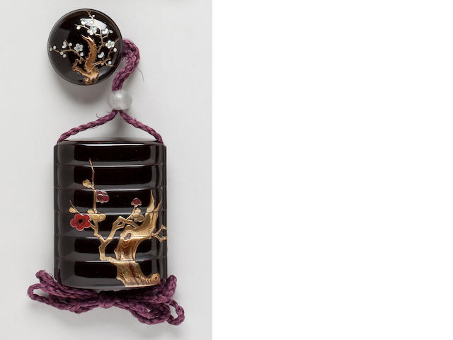 Five-case lacquer inro By Kyuzan (18th century)
