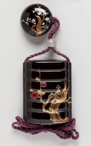 Five-case lacquer inro By Kyuzan (18th century)