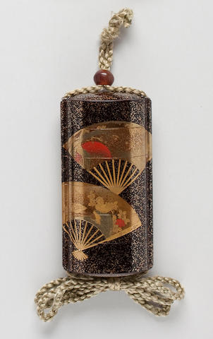 Five-case lacquer inro 19th century