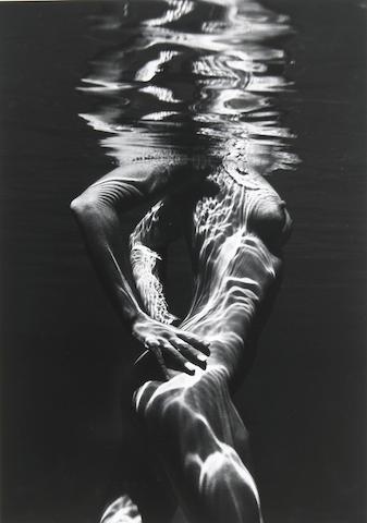 Brett Weston (American, 1911-1993); Underwater nude;