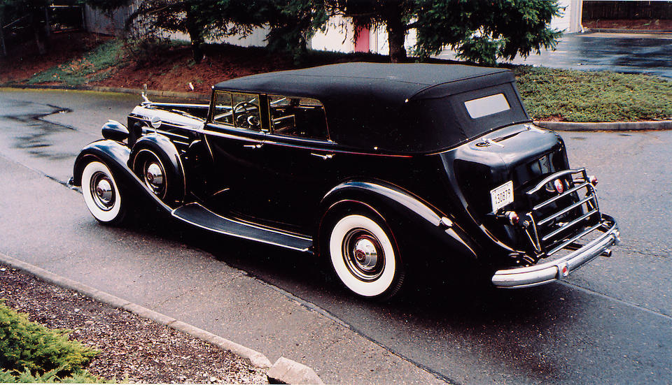 1937 Packard Series 1508 V-12 Convertible Sedan with Division  Chassis no. 1073-208 Engine no. 906153