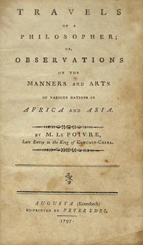 Poivre, Travels of a Philosopher. 1797.