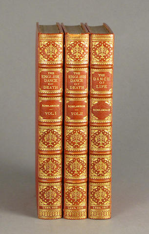 Rowlinson, Thomas.  English Dance of Death/Dance of Life.  L: 1816.  3 vols.  8vo.  Full dec mor.