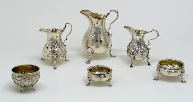 George II to Victorian Group of Silver Table Articles
