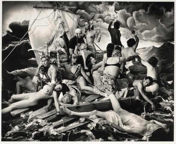 Joel-Peter Witkin (American, born 1939); The Raft of George W. Bush;