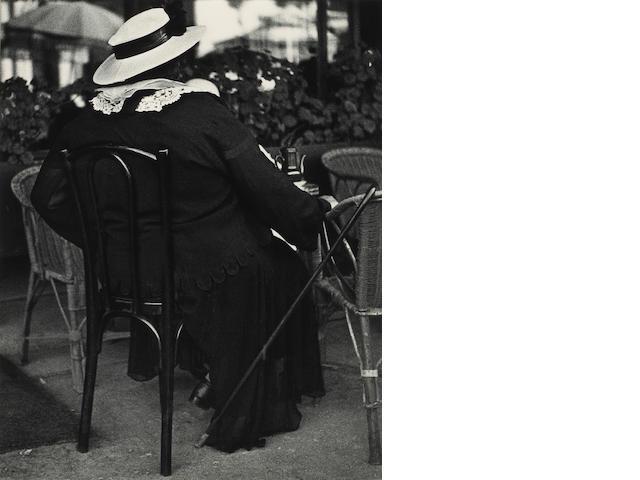 Lisette Model (American, 1901-1983); Nice, Famous Gambler, French Rivera;