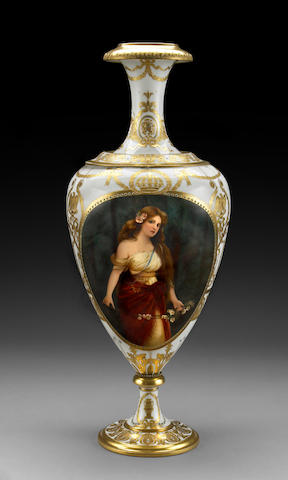 A Berlin porcelain vase: Odalisque <br>early 20th century