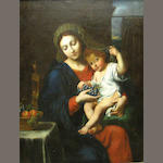 After Pierre Mignard La Vierge à la grappe 47 x 37 1/2in