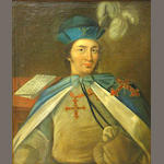 Continental School 18th Century A portrait of a knight, half-length 29 1/2 x 23 1/2in (74.9 x 59.6cm)