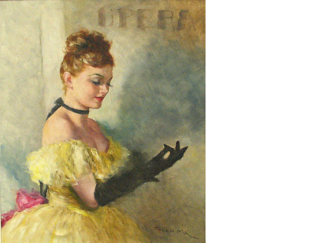 Pal Fried (Hungarian/American, 1893-1976) Black gloves 30 1/4 x 24in