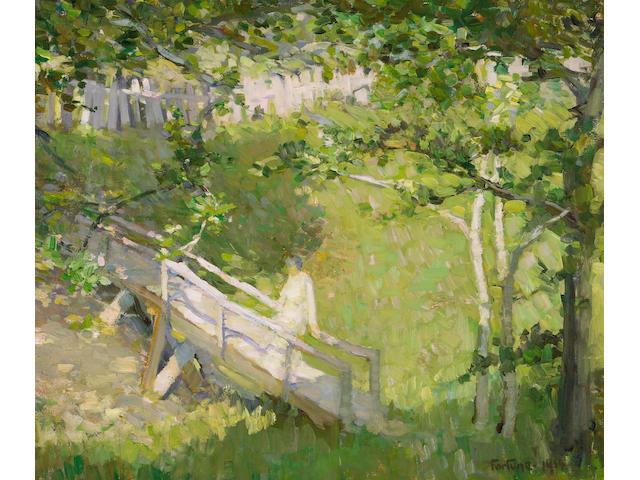 E. Charlton Fortune (1885-1969) Summer Landscape, 1914 22 1/4 x 26in