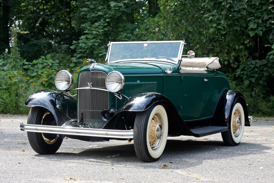 1932 Ford Model B V-8 Deluxe Roadster  Chassis no. 18-731712 Engine no. AB 562374