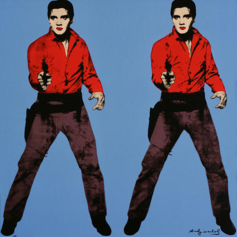 After Andy Warhol (American, 1928-1987); Elvis - Blue;