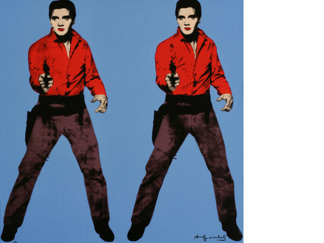 After Andy Warhol; Elvis - Blue;