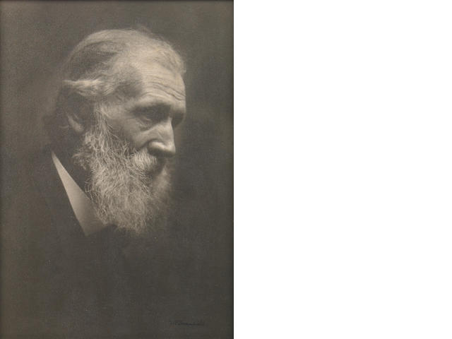 William E. Dassonville (American, 1879-1957); Portrait of John Muir platinum print, signed;