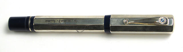 "Sterling Silver ""Bibliotheca Alexandrina"" Fountain Pen by Montegrappa"