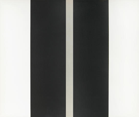 John McLaughlin (American, 1898-1976); Untitled (Two Black Vertical Lines);