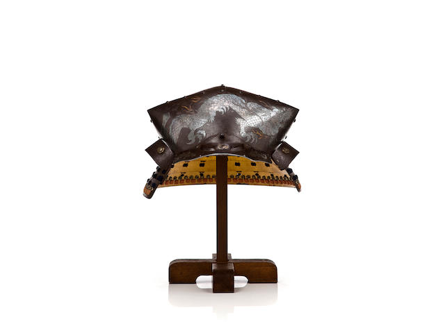 An iron kawari kabuto By Fujiwara Yoichi, (18th century)