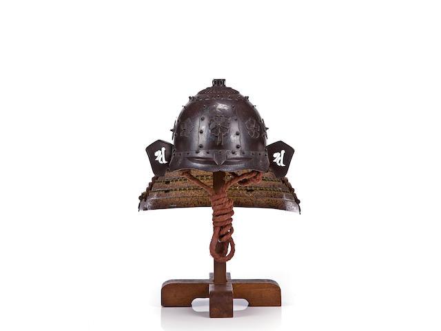 A SAIKA IRON KABUTO Muromachi-Momoyama period (late 16th century)
