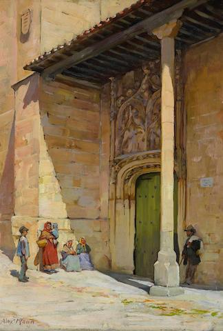 Alexander Mann (British, 1853-1908) San Benito, Salamanca 12 3/4 x 9 1/4in (32.4 x 23.5cm)