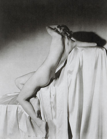 Horst P. Horst (German/American, 1906-1999); Lisa on Silk, New York;