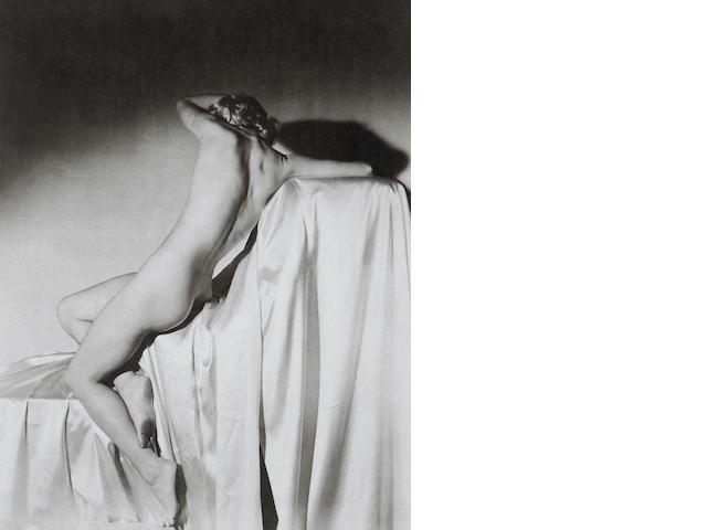Horst P. Horst (German/American, 1906-1999); Lisa on Silk, New York;