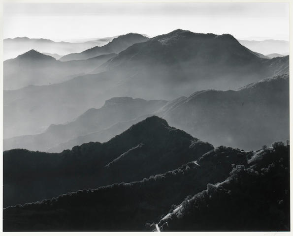 Ansel Adams (American, 1902-1984); Sierra Foothills and Haze;