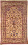 A Kashan silk rug Central Persia size approximately 6ft 11in x 4ft 5in