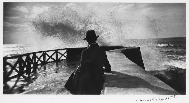 Jacques-Henri Lartigue (French, 1894-1986); Storm, Nice, France;