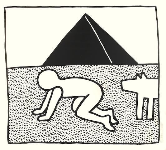 Keith Haring (American, 1958-1990); Pl. 17, from The Blueprint Drawings;