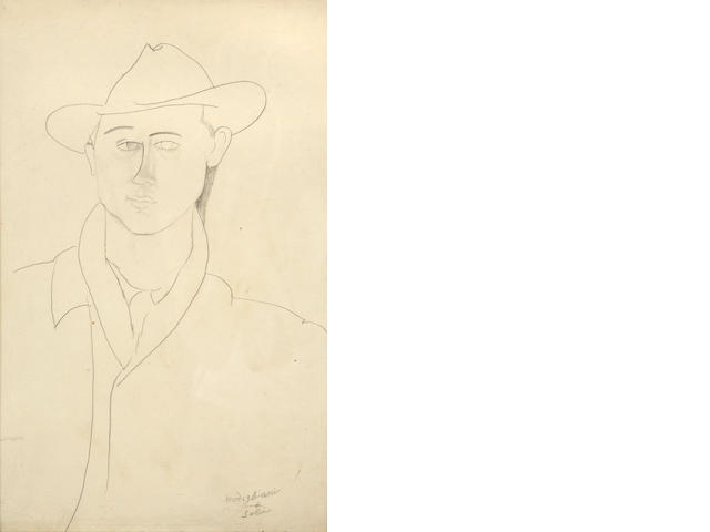 Attributed to Amedeo Modigliani (Italian, 1884-1920) Léon Solà, 1916 - 1917