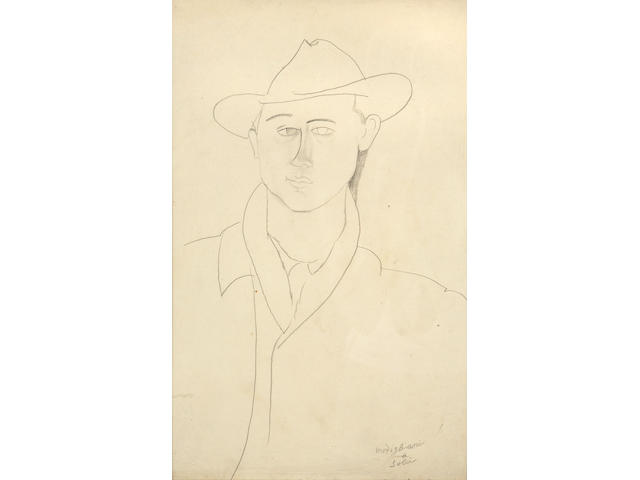 Amedeo Modigliani (Italian, 1884-1920) Léon Solà, 1916 - 1917 15 7/8 x 10 1/4in (40.3 x 26cm)
