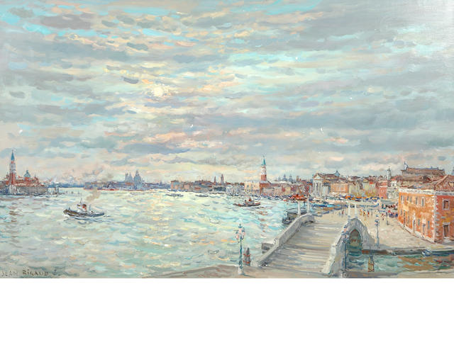 Jean Rigaud (French, 1912-1999) Venise contre-jour, 1984 35 1/16 x 56 7/8in (89 x 144.5cm)