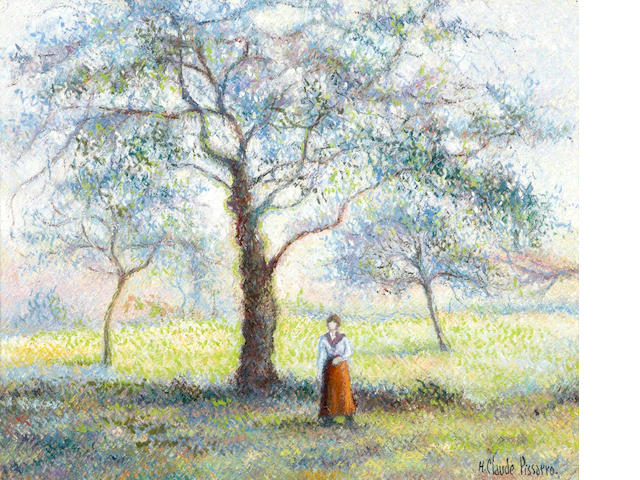 Hughes Claude Pissarro (French, born 1935) Le grand poirer du Mesnil 21 7/16 x 25 9/16in (54.5 x 65cm)