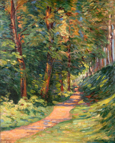 Armand Guillaumin (French, 1841-1927) Epinay-sur-Orge, chemin en sous bois, 1890 25 1/2 x 21 1/4in (64.8 x 54cm)